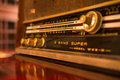 Old radio tuner Royalty Free Stock Photo