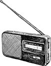Old radio vector image of the receiver Stock Images