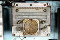 Old radio on warship at museam Royalty Free Stock Photo