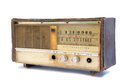 Old radio on white background Royalty Free Stock Photo