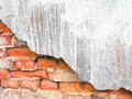 Old, ragged brick wall texture Royalty Free Stock Images