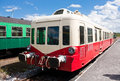 Old railcar french in the railway station Stock Photography