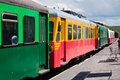 Old railcar french in the railway station Royalty Free Stock Photography