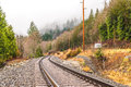 Old railroad in autumn season. Royalty Free Stock Photo
