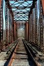 Old railroad bridge Stock Image