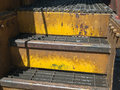 Old railroad car steps Royalty Free Stock Photo