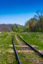 Old railroad tracks Royalty Free Stock Photo