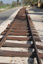 Old Rails, Al-Roy Old Train Station, Israel Royalty Free Stock Photo