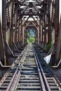 stock image of  Old railway bridge in the mountains.