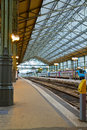 Old railway station tours modern style in france Royalty Free Stock Photo