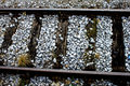 Old railway track close up on Royalty Free Stock Photos