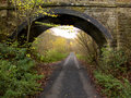 Old railway track now walkway wyre forest worcestershire november Royalty Free Stock Photos