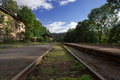 The old railway track. Royalty Free Stock Photo