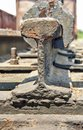Old railway wagon on siding and waiting to cassation or repair Royalty Free Stock Images