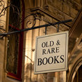 Old & Rare Books Sign Royalty Free Stock Photos