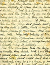 Old recipe handwriting detail Stock Photos