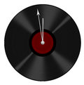Old record recycled into clock - at twelve - time lost, going et Royalty Free Stock Photo