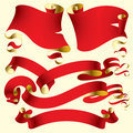 Old red banners Royalty Free Stock Photo