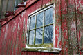 Old Red Barn and Window Close up in Illinois Royalty Free Stock Photo