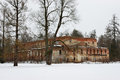 The old red brick building near obvodny canal in alexander park in pushkin st petersburg Royalty Free Stock Images