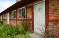 Old red brick cottage Royalty Free Stock Photo