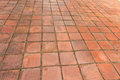 Old red brick paving Royalty Free Stock Photo