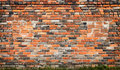 Old red brick wall background Royalty Free Stock Photo