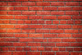 Old red brick wall close up. Texture and background Royalty Free Stock Photo
