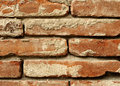 Old red brick wall detail Royalty Free Stock Image