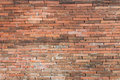Old red brick wall. pattern Royalty Free Stock Photo