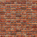 Old Red brick wall seamless background. Royalty Free Stock Photo