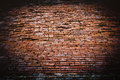 Old red brick wall texture of Royalty Free Stock Photo