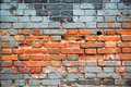 Old red brick wall textured background Stock Photography