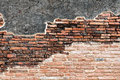 Old red bricks wall background Stock Photos