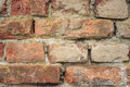 Old red bricks wall close-up Royalty Free Stock Photo