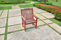 The old red brown wooden chair Royalty Free Stock Photo