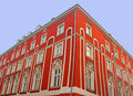 Old red building in Krakow Stock Image