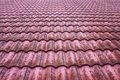 Old red bulgarian roof tiles Stock Images