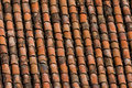 Old red clay roof tiles Royalty Free Stock Photo