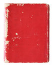 Old red cover book isolated over white with clipping path Stock Image