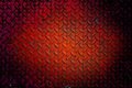 The old  red diamond steel metal sheet background Royalty Free Stock Photo
