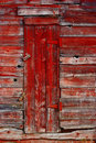 Old red door Stock Photography