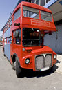Old red double decker public bus Royalty Free Stock Images