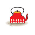 Old red kettle Royalty Free Stock Photo