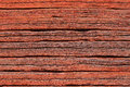 Old red log wall. Royalty Free Stock Photos
