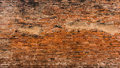 Old  red and orange brick wall Royalty Free Stock Photo