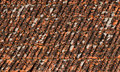 Old red roof tiles Royalty Free Stock Image