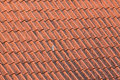 Old red roof tiles background details Royalty Free Stock Images