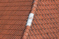 Old red roof tiles background details Royalty Free Stock Photo