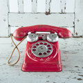 Old red telephone Royalty Free Stock Photo